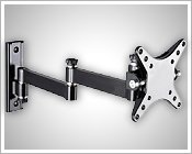 """LCD TV monitor wall mount bracket for 10""""-23"""" screen w/15"""" arm"""