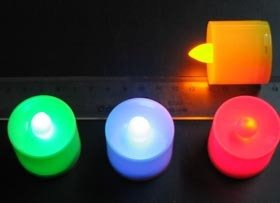 24 Yellow LED TEA LIGHT WEDDING PARTY CANDLE PARTY CHRISTMAS
