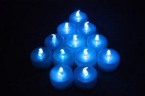 Wholesale blue LED TEA LIGHT WEDDING PARTY flicker CANDLE PARTY CHRISTMAS (min order 500)