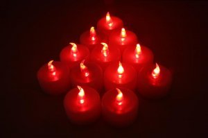Wholesale red LED TEA LIGHT WEDDING PARTY flicker CANDLE PARTY CHRISTMAS (min order 500)