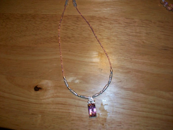 Pink and white crystal