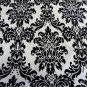 """Damask Satin Fabric Black and White Fabric by Yard 58"""" wide"""