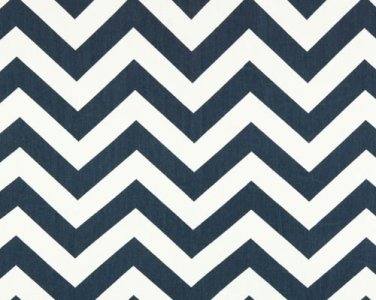 CHEVRON ZIGZAG NAVY Blue and white ironing Board cover