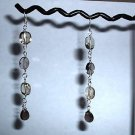 LEMON and SMOKY QUARTZ Sterling Silver Earrings 398