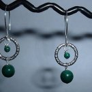 MALACHITE Sterling Silver Earrings 373
