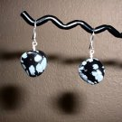 SNOWFLAKE OBSIDIAN Sterling Silver Earrings