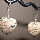 YELLOW TURQUOISE HEART Sterling Silver Earrings