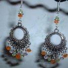 PERIDOT AMETHYST CARNELIAN Sterling Silver Earrings 299