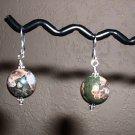PLUM BLOSSOM STONE  Sterling Silver Earrings 348
