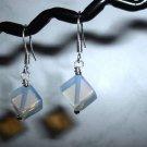 OPALITE CUBE Sterling Silver Earrings 512