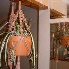 LOT 2 Macrame Plant Hangers PECAN TAN BEADS