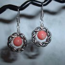 PINK CORAL Sterling Silver Earrings 531