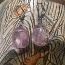 BRAZILIAN AMETHYST OXIDIZED Sterling Silver Earrings396
