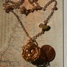 BIRD NEST NECKLACE  GOLD  SWAROVSKI PEARLS GOLD