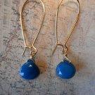 APATITE BLUE CHALCEDONY Gold Earrings 459