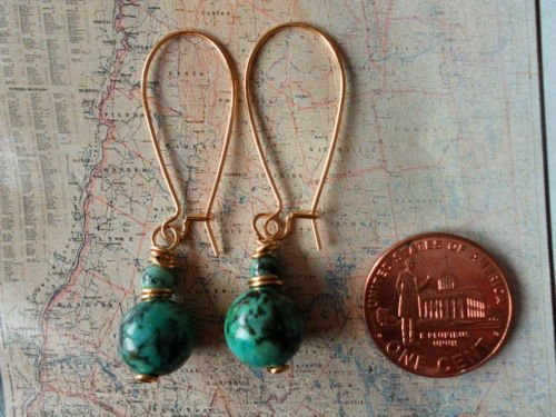 AFRICAN TURQUOISE GOLD Earrings 17