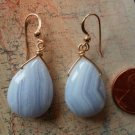 BLUE LACE AGATE 14K GOLD FILLED Earrings 11