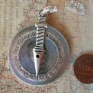 French/English Love Meter Necklace  Silver