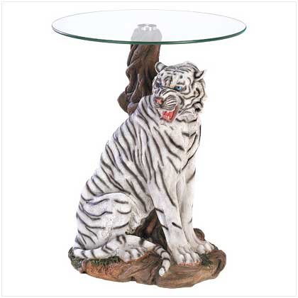 White Tiger Accent Table  39587
