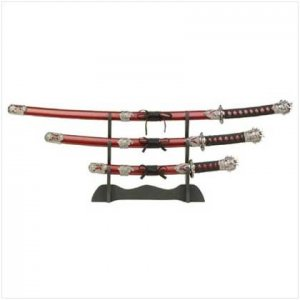 Samurai Headed Sword Set  35652