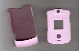Pink hard covers for the Motorola razr