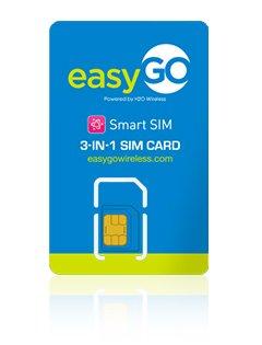 Easygo Wireless 3 in 1 prepaid gsm sim card