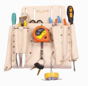 Top Grain Leather Electricians Tool Belt Pouch Bag