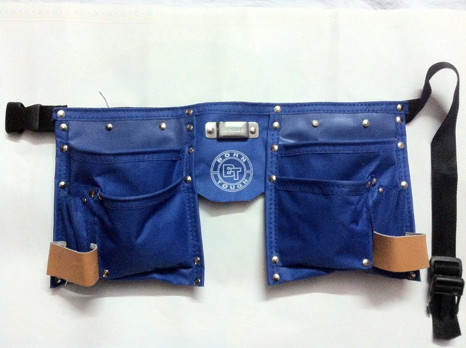 10 Pocket Kids Tool Pouch Bag Belt - Blue