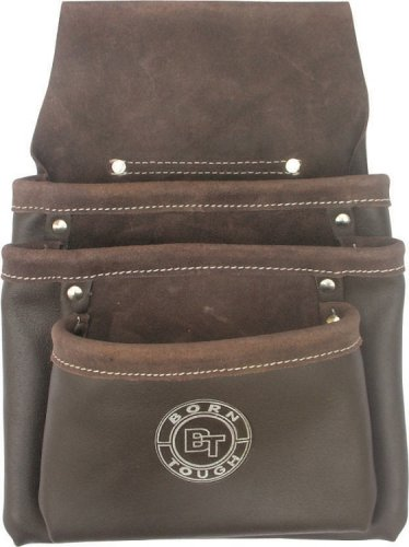 3 Pocket Oil Tanned Leather Tool Pouch Bag