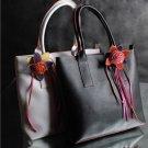 FASHIONABLE HANDHELD / SHOULDER BAG WITH FLOWER DECO