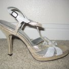 NINA Golden and Silver Sandals