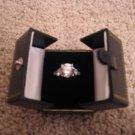 3 Stone Britney Spears Inspired Solig White Gold Ring