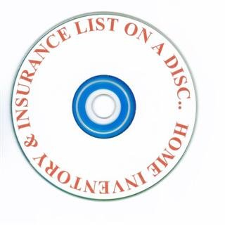Home Inventory & Insurance List on a Disc $12.95.