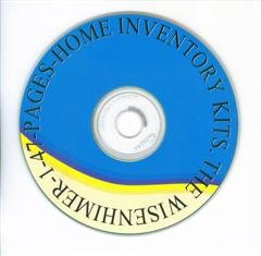 47-Page Home Inventory Kit on a Disc $21.95.