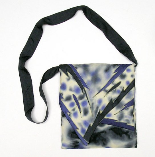 Unique Purse Hand Painted Silk, Quilted, OOAK by JOSSIANI