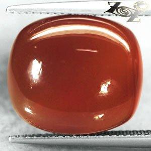 13.26 CT.VVS 1 Natural Cushion 14.5*16.5 mm. Sunset Orange Red Africa Carnelian