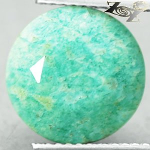 5.04 CT.Natural Oval 11.5mm White Spider Web Mint Blue Green Microcline Amazonite