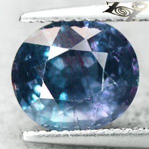 4.19 CT.Unheated Natural Oval 8.5*9.5mm. Violet Blue Tanga Sapphire Khooni Neelam