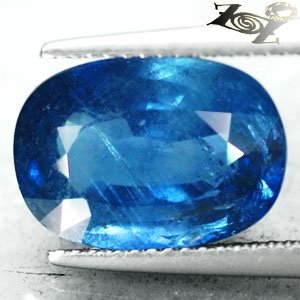 9.1CT.Unheated Untreated Natural Oval 10*14 Vivid Blue Tanga Mine Sapphire ���寶�