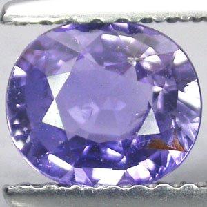 Unheated Natural Oval 6*7 mm. Intense Purple Violet Tanga Sapphire 1.1 CT.Gems