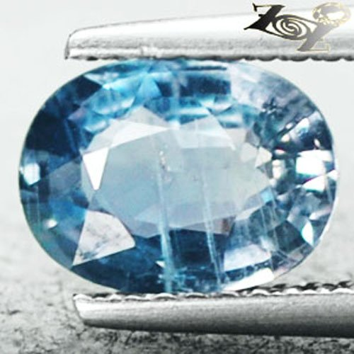 Unheated Untreated Natural Oval 6*8.5 mm. Intense Cool Blue Sapphire 1.86 CT.Gem