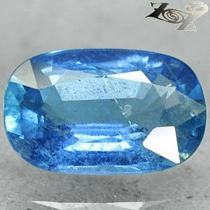 2.39 Ct.Firely Unheated Natural Oval 6.5*10 mm. Tanga Intense Blue Sapphire Gems