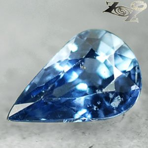 Eye Clean Firely Unheated Natural Pear 5*8 mm Violetish Blue Sapphire 1.13 Ct.