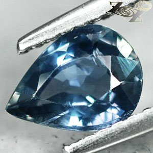 Eye Clean Firely Unheated Natural Pear 5.7*7.6mm Intense Blue Sapphire 1.12 Ct.
