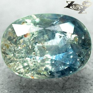 6.52 CT.Unheated Natural Oval 9.5*13 mm. Intense Silver Blueish Green Sapphire