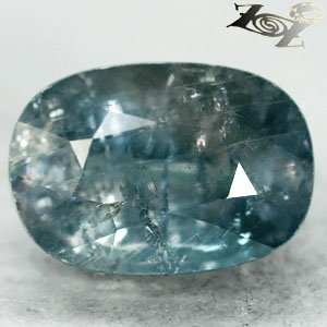17.03 Ct.Unheated Firely Natural Oval 12*17 mm Moderate Greenish Blue Sapphire