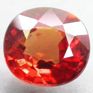 VVS Natural Oval 5.8*6.2 Vivid Red Orange Tanga Mine Tanzania Sapphire 1.11 CT.