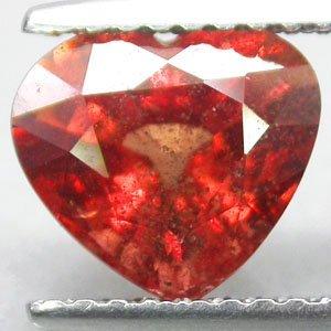 2.22 CT.Firely Natural Heart 7.5*8 mm Exceptional Orange Tanga Tanzania Sapphire