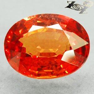 2.39 Ct.Firely Natural Oval 7*9 mm. Vivid Orange Tanga Mine Tanzania Sapphire