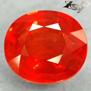 2.98 Ct.Firely Natural Oval 7.5*8.5 mm Exceptional Reddish Orange Tanga Sapphire